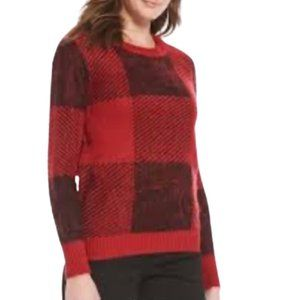 🆕Westbound Red, Black & Charcoal Sweater size M